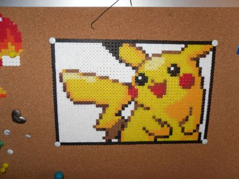 Pikachu Perler thingy - done by dylrocks95