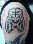 New Tattoo - Predator Tribal by GreenZombieStudios