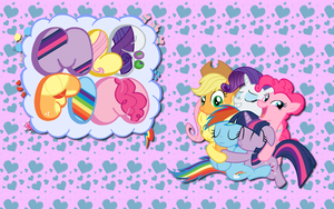 Group hug wallpaper 2 by AliceHumanSacrifice0