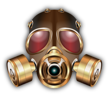 Gasmask first draft by IllustratorG