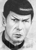Leonard Nimoy mini-portrait by whu-wei