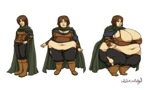 Commission: Fat Fene by idacknowledged