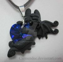 Dark Purple Heart Night Fury by carmendee