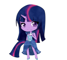 MLP Chibi: Twilight Sparkle by Sumima