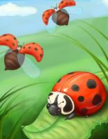 Ladybugs by UrsusArctos