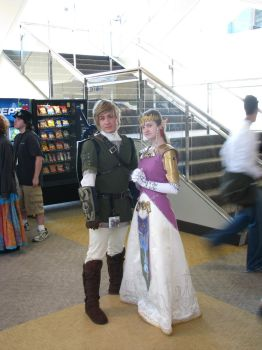 Link and Zelda by BalthierFlare