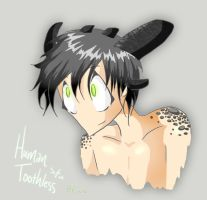 Human Toothless by CinnamonRed