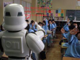 Career Day with a Stormtrooper by masterbarkeep