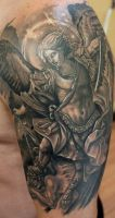 Saint Michael Archangel- by Sean Ambrose by seanspoison
