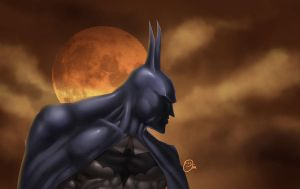 batman paint practice by spidey0318