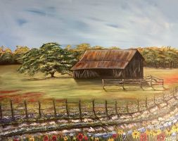 Old Texas Barn by MelissaATorres