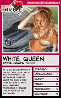Trading Card - White Queen by jessiesheram