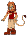Brutis The Lion My OC-FlatColor by Destiny-The-Hedgimon