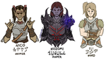 love live + skyrim: third years by madohomos