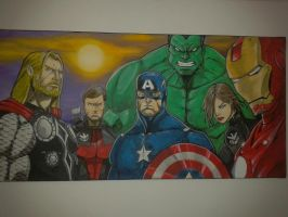 Avengers oil canvas paint by pollomaxx