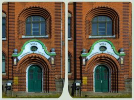 Village School 3D ::: HDR Cross-Eye Stereoscopy by zour