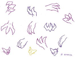 The Neverending Doodles - Sableye Hands by VibrantEchoes