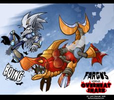Fargus VS O.Shark comission by Garvals