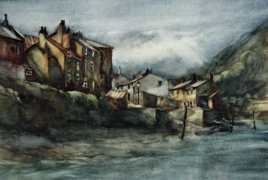 Staithes Beck, North Yorkshire by vyvyangreen