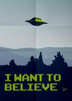My I want to believe minimal poster - X-files by Chungkong
