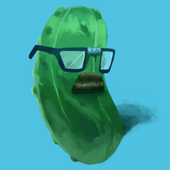 Steven The Pickle - The Painting by StrangeRaptor