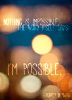 Nothing is impossible by schattenlosefotos