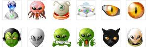 alien mind icons by rhandros