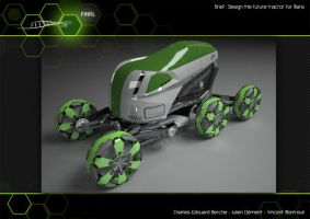 Tractor for MArs 3D Studio 2 by Vincent-Montreuil