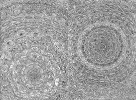 Mandala Diptych by LuxeLibrarian