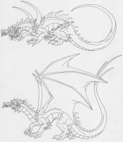 Two Different Fire Drakes by Scatha-the-Worm