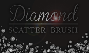FREE | HIGH RES | Diamond Scatter Brush by RachaelRaie