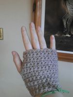 Quick fingerless crochet mittens by Nerd-Is-The-Word89