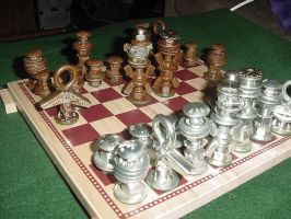 The Left Over Chess Set by merekat4