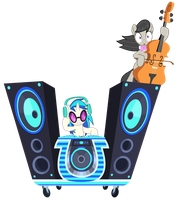 DJ Pon-3 and Octavia's Ride Vector by GreenMachine987