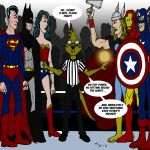 AV against JL with mongoose referee by cartercomics