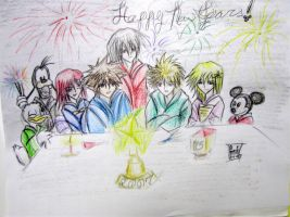 Happy New Years 2007 KH by Kagamikage