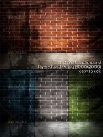 Brick Wall Background by mkrukowski