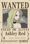 One Piece Wanted Poster Ashley Red TimeSkip by KarenAlvizo
