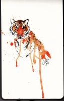 Tiger2 Water Color by Tyleen