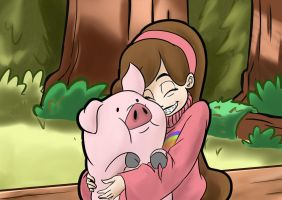 Mabel n Waddles by smilingDOGZ