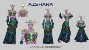 First Highborne Azshara By Vaanel by Vaanel