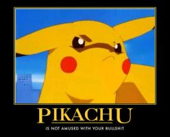 Pikachu is not amused by Egofaptor