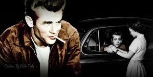 James-Dean-collage-color-by-Carla Fuchs by CarlaBabi