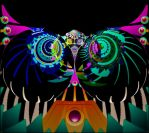 Psychedelic Cat 2 (or Psychedelic Owl) by CopperScaleDragon