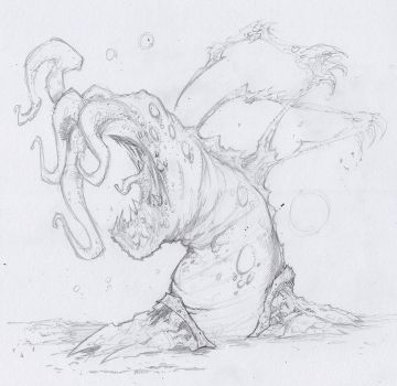 Tentacle Creature by crossbonestyle