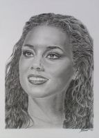 Alicia Keys by claudiasartwork