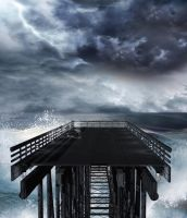 Pier Background by mysticmorning
