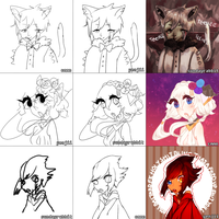 closed eyes switcharound meme B^))) by cmmn
