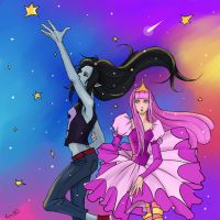 Marceline and Princess Bubblegum by Rukinda