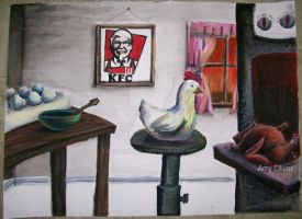 Beware the Colonel's Kitchen by oliveramy